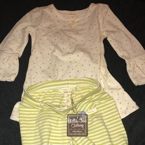 NEW Matilda Jane Lime green/cream pants shirt sz 4